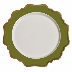 Anna´s Palette Meadow Green Bread & Butter Plate
