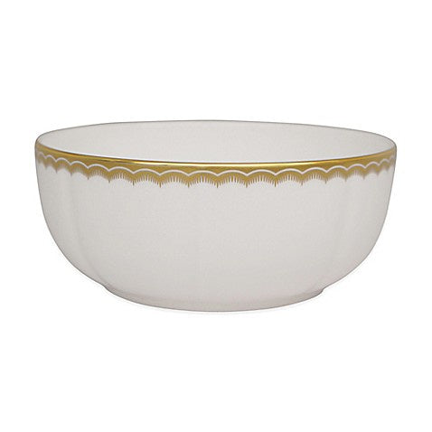 Antique Gold Cereal Bowl