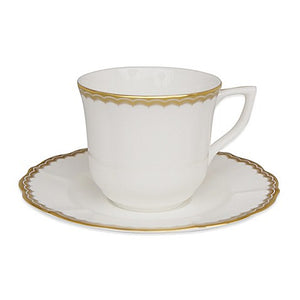 Antique Gold Tea Cup & Saucer 2 Pc