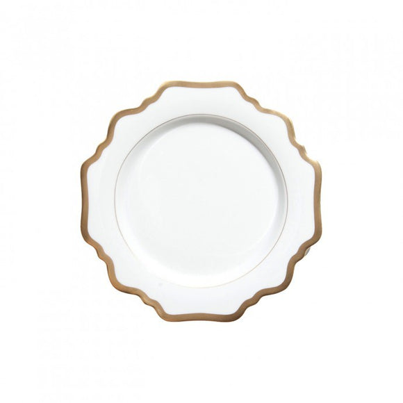 Antique White with Gold Bread & Butter Plate