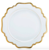 Antique White with Gold Salad/Dessert Plate