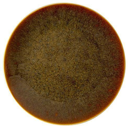 Art Glaze Charger Flamed Caramel