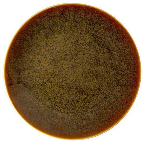 Art Glaze Dinner Plate Flamed Caramel