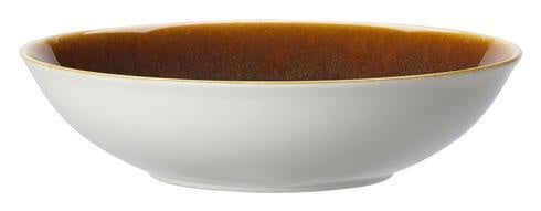 Art Glaze Serving Bowl Flamed Caramel