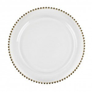 Beads Charger Plate Gold 4 Pc