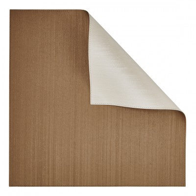 Bronze/Ivory Square Placemat Double-Sided 4 Pc