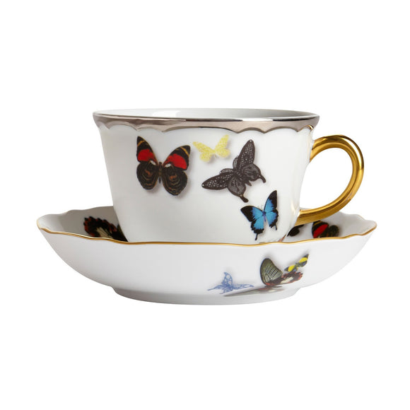 Butterfly Parade Tea Cup & Saucer  by Christian Lacroix
