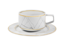 Carrara Tea Cup & Saucer