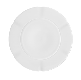 Crown White Soup Plate