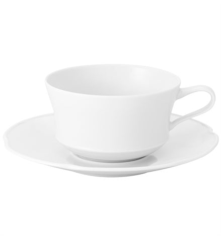 Crown White Tea Cup & Saucer