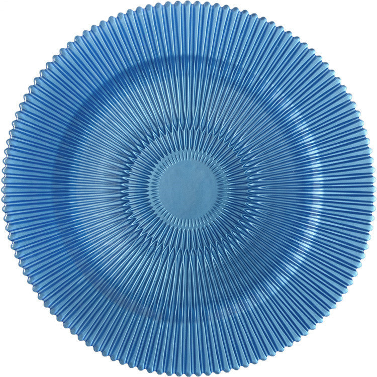 Colored Charger Plate Blue 4 Pc
