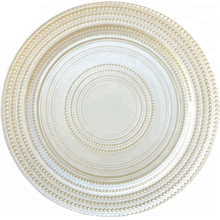 Pearl Beads Charger Plate 4 Pc