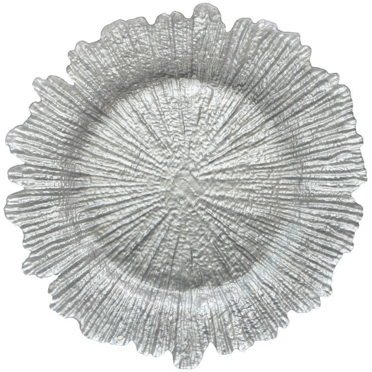 Reef Charger Plate Silver 4 Pc