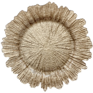 Reef Charger Plate Champagne 4 Pc