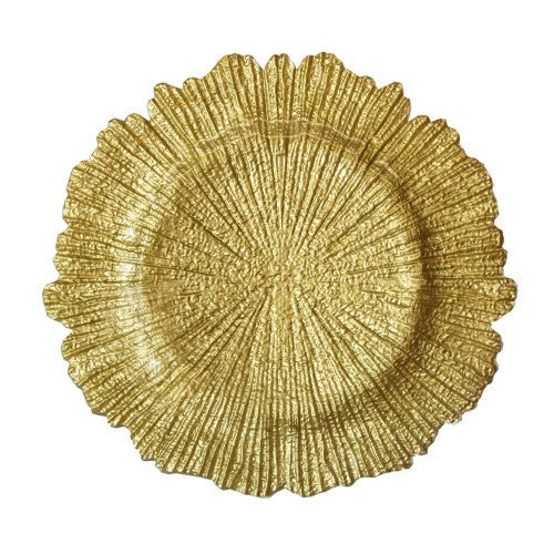 Reef Charger Plate Gold 4 Pc