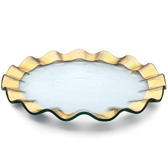 Ruffle Gold Buffet/Charger Plate