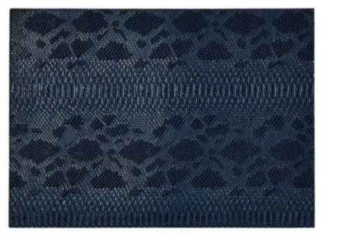 Midnight/Gray Python Rectangular Placemat Double-Sided 4 Pcs
