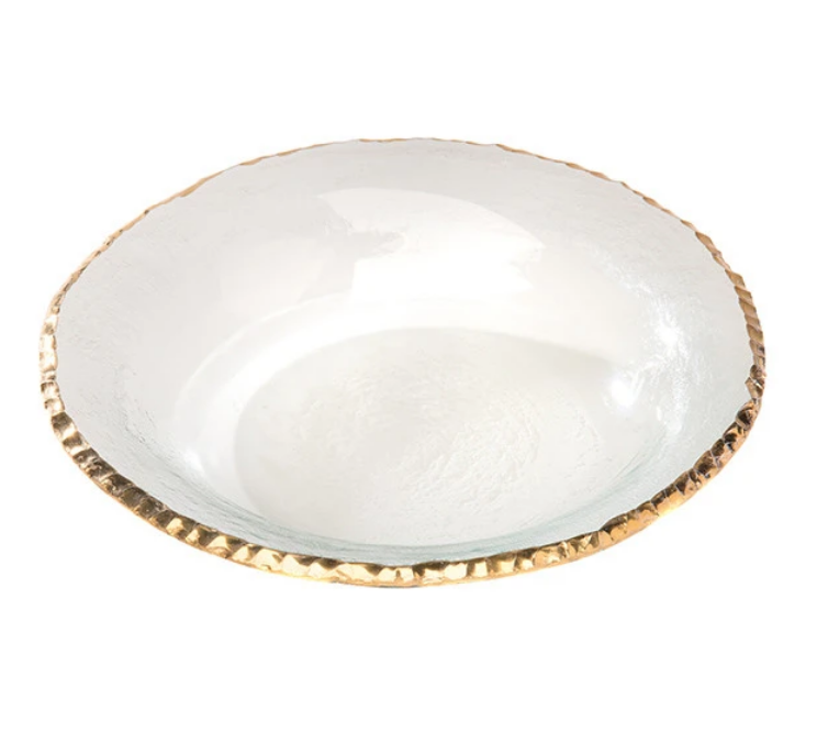 Edgey Gold Soup Plate