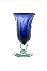 Glass Cup Navy Blue