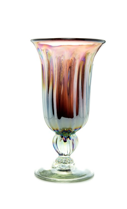 Glass Cup Pink Tornasol