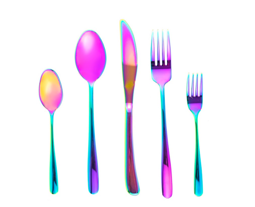 Technicolor Flatware