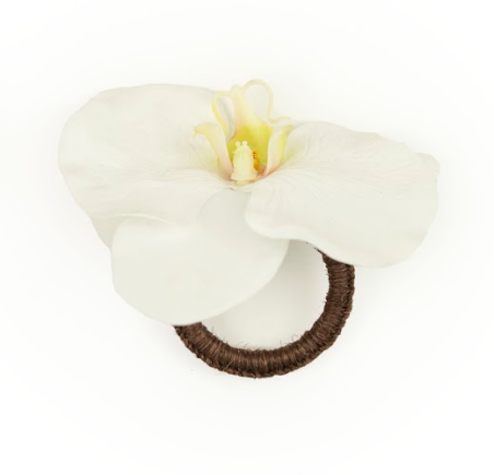 Orchid White Napkin Ring