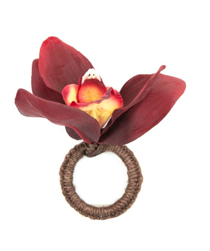 Orchid Red Napkin Ring