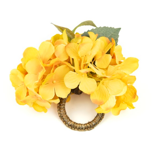 Hortensia Yellow Napkin Ring