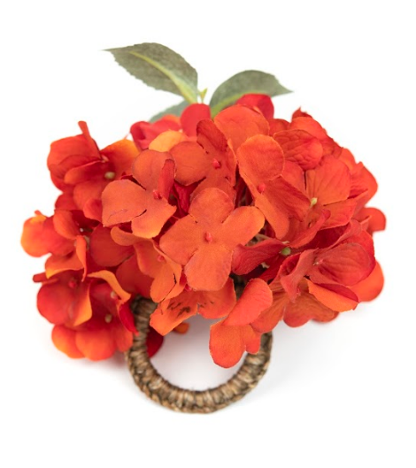 Hortensia Orange Napkin Ring