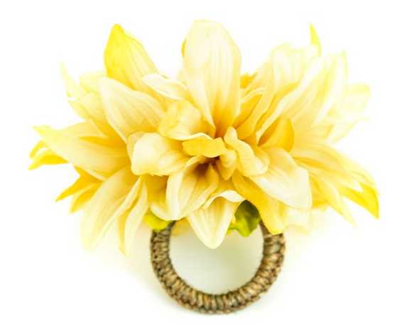 Chrysanthemum Yellow Napkin Ring