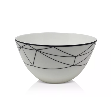 Gem Cut Black Cereal Bowl