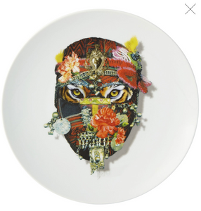 "Love Who You Want Dessert Plate ""Mister Tiger""  by Christian Lacroix"