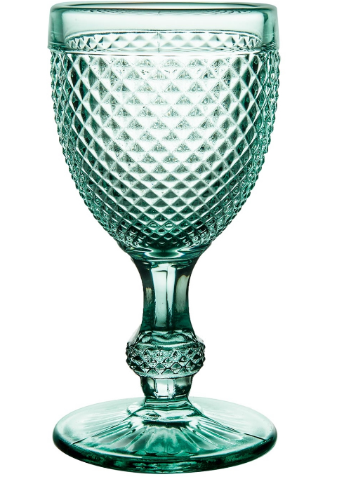 Mint Green Bicos Wine Goblet Set 4 Pc