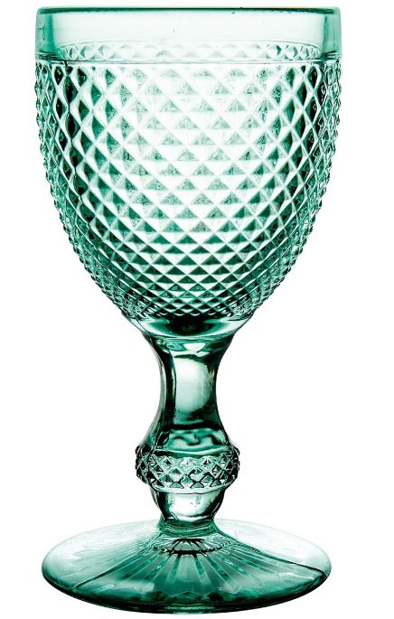 Mint Green Bicos Water Goblet Set 4 Pc