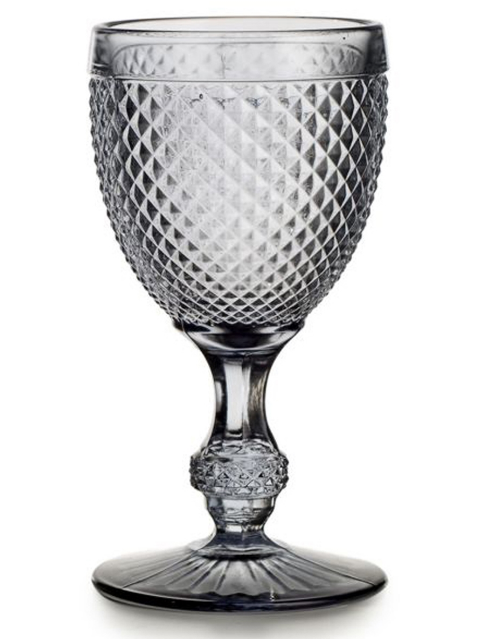 Cinza Grey Bicos Water Goblet Set 4 Pc