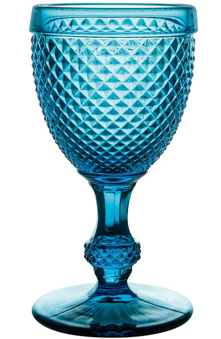 Blue Bicos Water Goblet