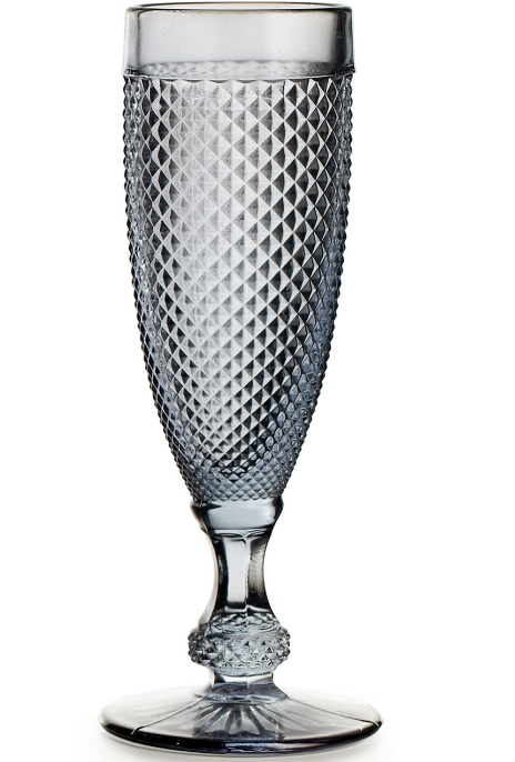 Cinza Grey Champagne Goblet Set 4 Pc