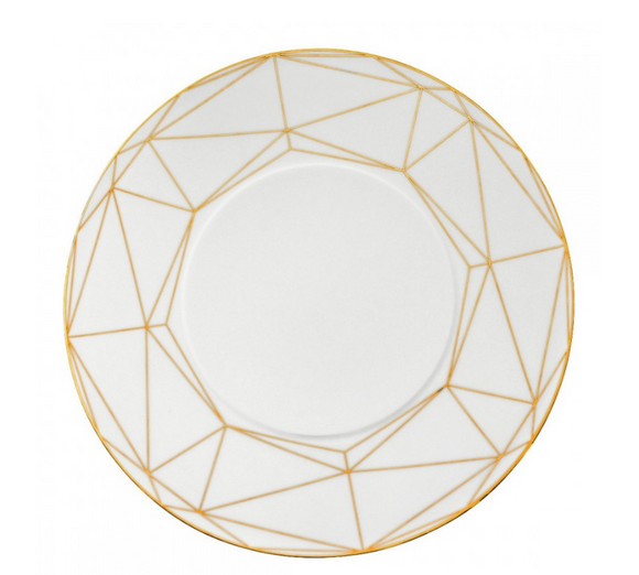Gem Cut Gold Dinner Plate