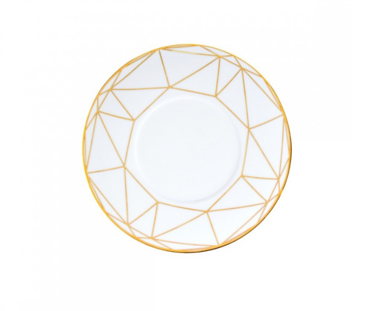 Gem Cut Gold Salad/Dessert Plate