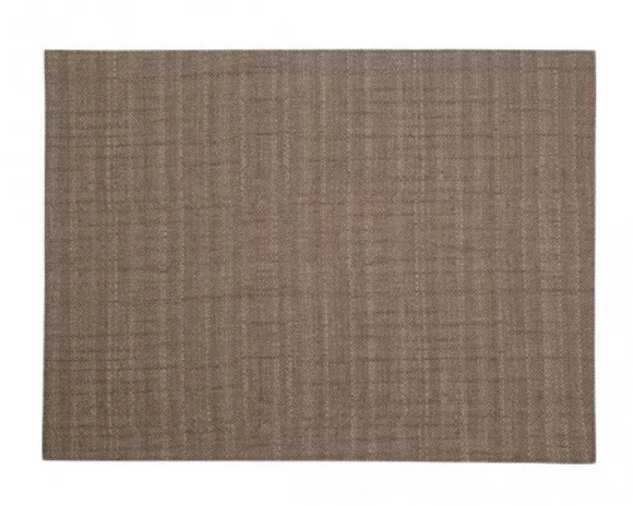 Rectangular Placemat Herringbone Double-Sided Grey/Brown 4 Pcs