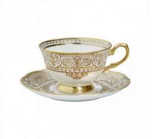 Carlsbad Queen White Tea Cup & Saucer