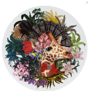 Love Who You Want Charger Plate Jungle Doña Jirafa  by Christian Lacroix