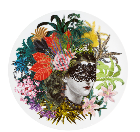 Love Who You Want Charger Plate Mamzelle Scarlet  by Christian Lacroix