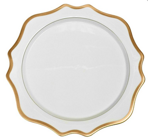 Anna's Palette Antique White with Gold Charger Plate