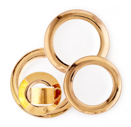 Monaco 24KT Gold  5 Pc Set