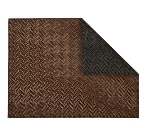 Rectangular Placemat Weave Double-Sided Black/Cooper 4 Pcs