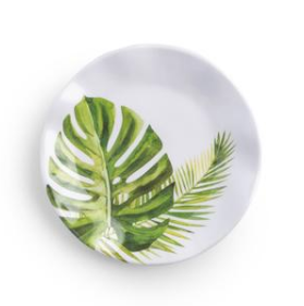 Palm Canape Plate 4Pc