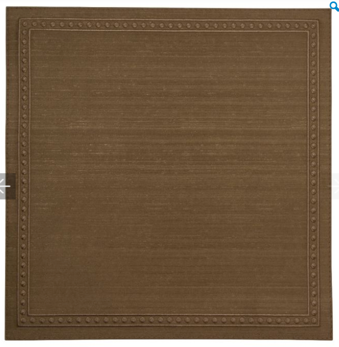 Square Placemat with Pearl Embroidery (Set of 4) Bronze