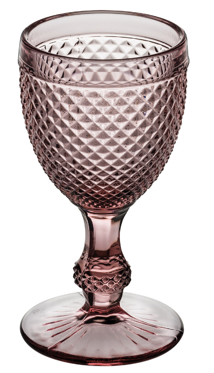 Pink Bicos Water Goblets 4 Pcs