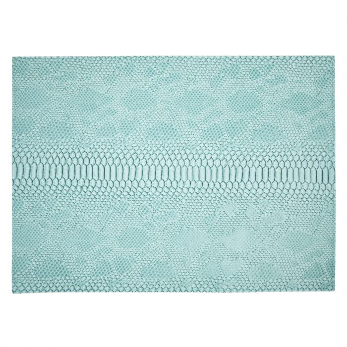 Grey/Turquoise Python Rectangular Placemat, Double-Sided (Set of 4)
